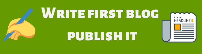 Write first blog
